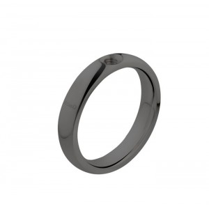 Bague Melano Twisted Tracy noir