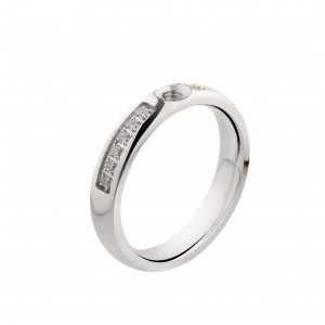 Bague Melano Twisted Tracy zircons argent