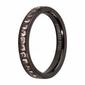 Bague Melano Friends Eva zircons noir