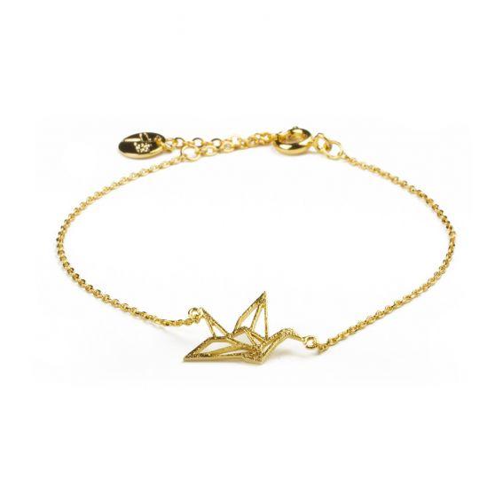 Bracelet 7bis origami oiseau doré