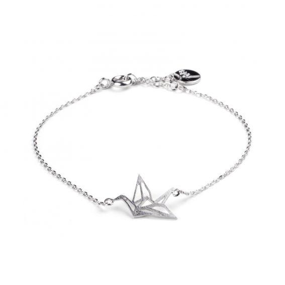 Bracelet 7bis origami oiseau argenté
