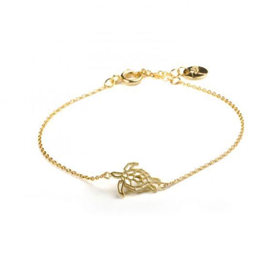 Bracelet 7bis tortue doré