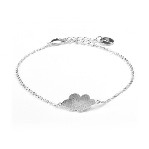 Bracelet 7bis nuage argenté