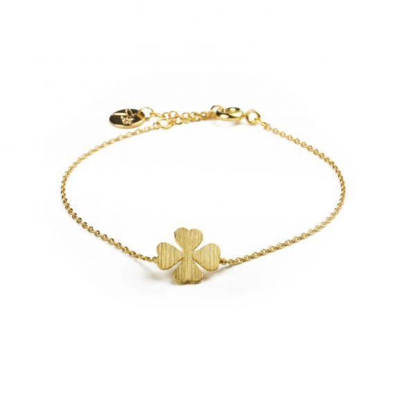 Bracelet 7bis trèfle doré