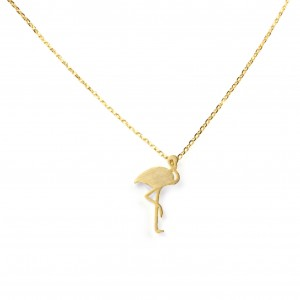 Collier 7bis flamand rose doré