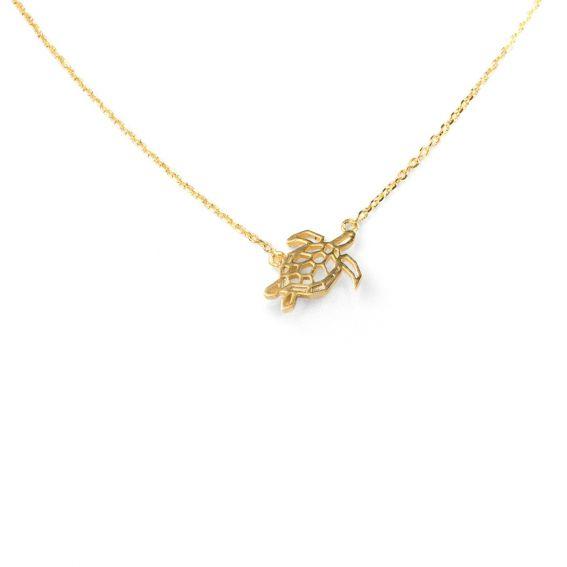 Collier 7bis tortue dorée
