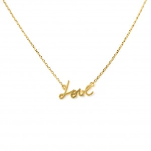 Collier 7bis love (amour) doré