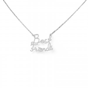 Collier 7bis best friends (meilleur amis) argenté