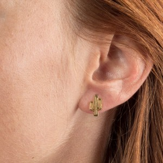 Boucles d'oreilles 7bis cactus dorées