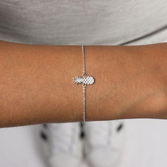 Bracelet 7bis ananas argenté