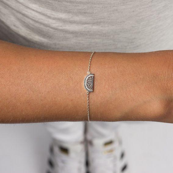 Bracelet 7bis quartier de pastèque argenté