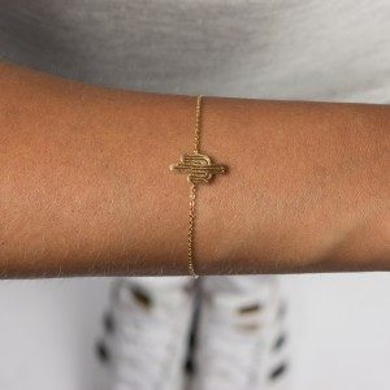 Emballage du bracelet 7bis cactus doré