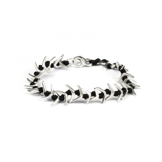 Bijoux bracelet arête de poisson et corde
