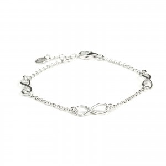 Bracelet en argent 925 triple infini - Bijoux en argent