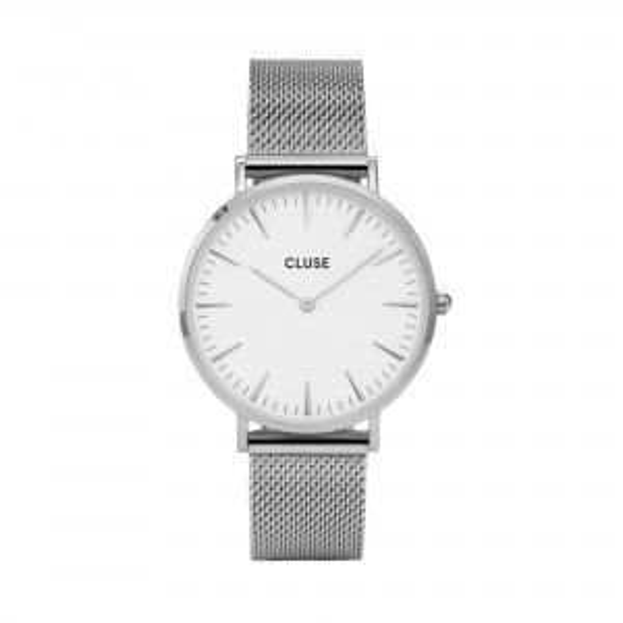 Montre CLUSE - La bohème Mesh silver/white