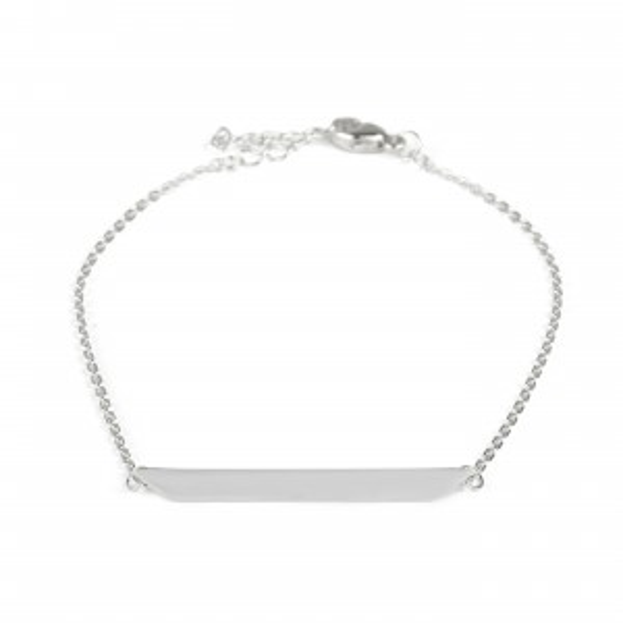 Bracelet femme barrette triangulaire à graver - Bijoux en argent 925