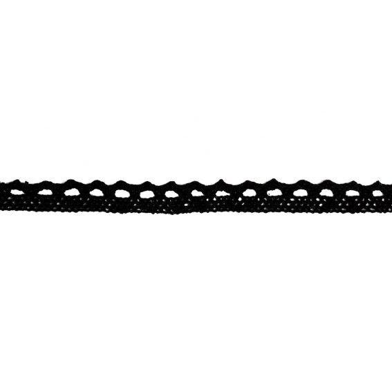 Ras de cou en tissu noir - Bijoux et colliers femme