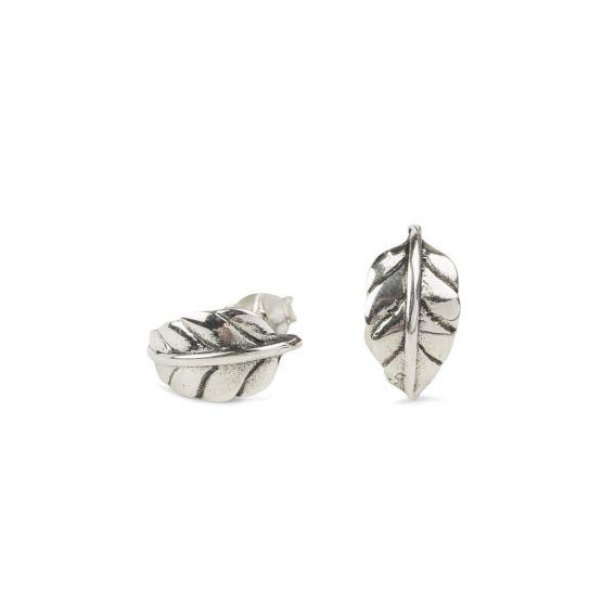 Feuilles courbes en argent 925 - Boucles d'oreilles pour femme