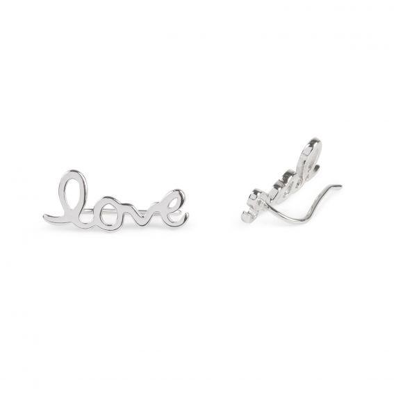 Boucles d'oreilles montantes LOVE - Bijoux et boucles d'oreilles