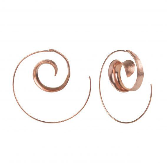 Boucles d'oreilles escargot rosé - Bijoux en argent