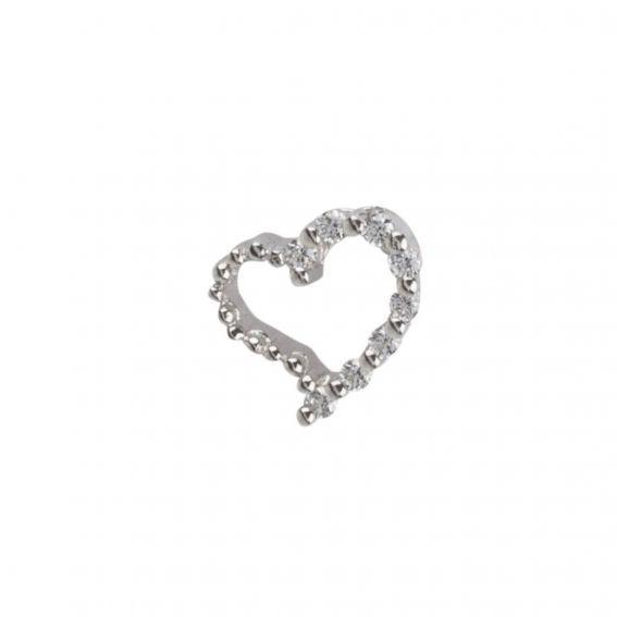 Pendentif coeur et pierres - Bijoux et pendentif en argent