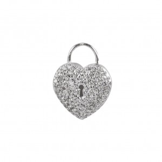 Pendentif coeur et serrure - Bijoux et pendentif en argent