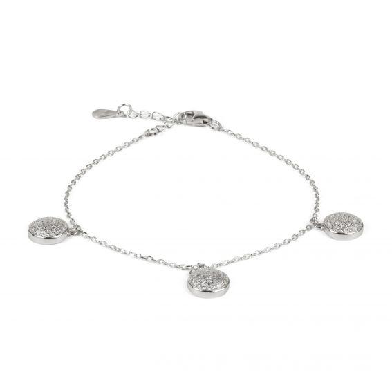 Bracelet 3 demi-sphères sur chaîne en argent 925 - Bijoux en argent