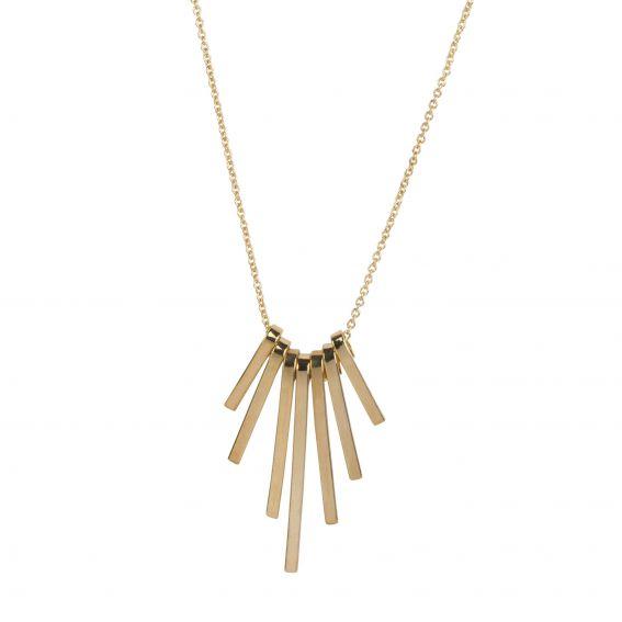 Collier petites plaquettes dorées - Bijoux et colliers fantaisies