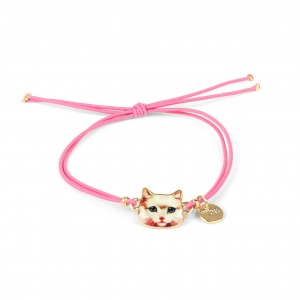 Bracelet 7bis lolcat - Chat rose