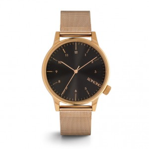 Winston Royale Rose Gold Black - Montre de la marque KOMONO