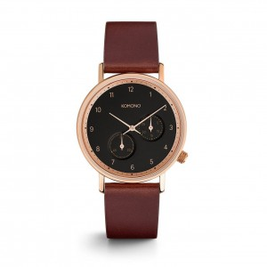 The Walther Burgundy - Montre de la marque KOMONO