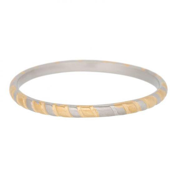 Bicolore argenté et doré - Bague de la marque iXXXi