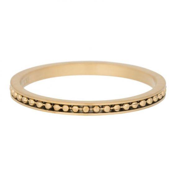 Anneau mambo mate doré iXXXi - Bagues et bijoux de la marque iXXXi