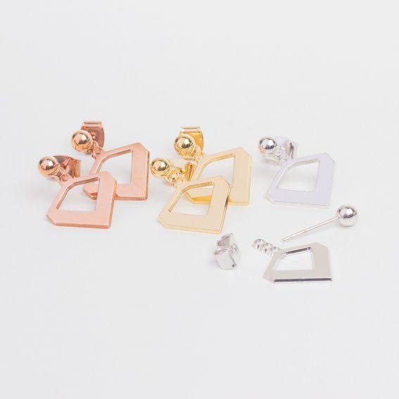 Boucles d'oreilles MYA BAY chevron - Bijoux de la marque MYA BAY