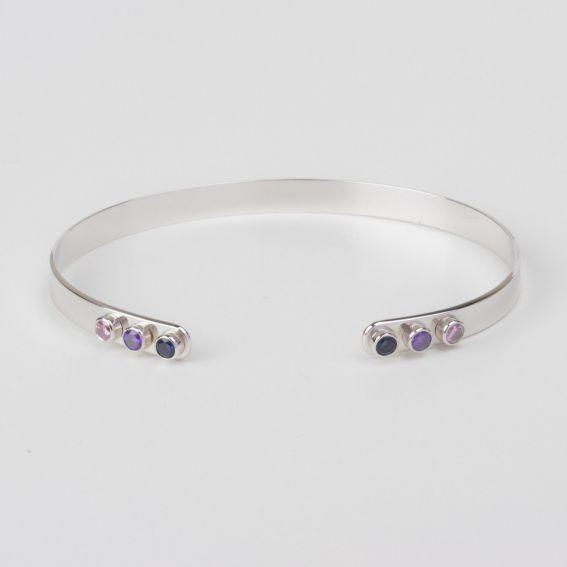 Bracelet MYA BAY 6 pierres ouvert - Bijoux de la marque MYA BAY
