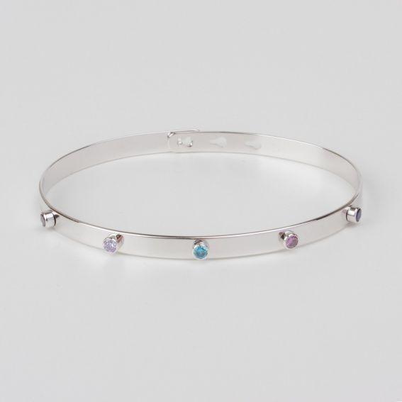 Bracelet MYA BAY 5 pierres muticolores - Bijoux de la marque MYA BAY