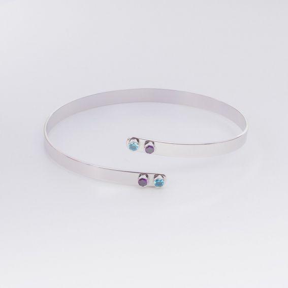 Bracelet MYA BAY 4 pierres ouvert- Bijoux de la marque MYA BAY