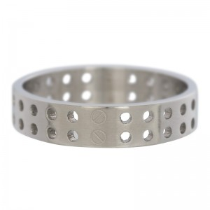 iXXXi - Ring matte silver punched holes