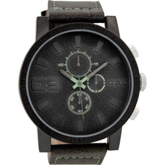Montre Oozoo Timepieces C9031 darkgrey/divinggreen - Montre de la marque Oozoo