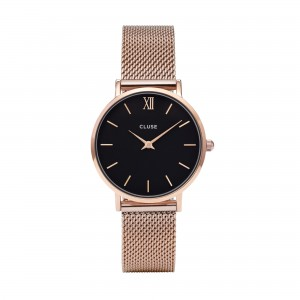 Cluse - Watch CLUSE - Midnight Mesh rose gold / black