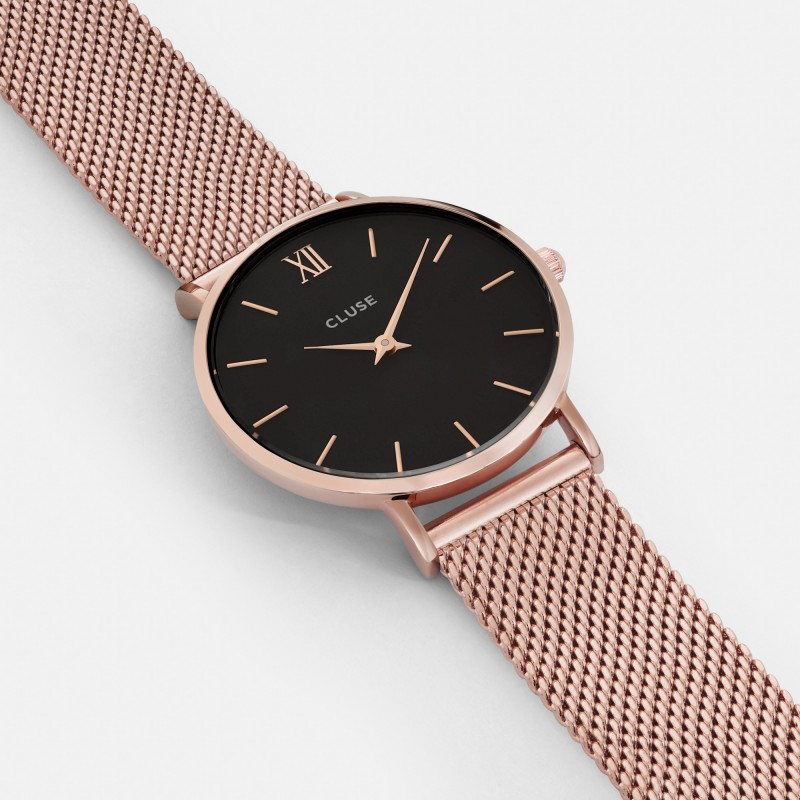 grossiste 72aec 8f23c Montre CLUSE - La minuit Mesh rose gold/black