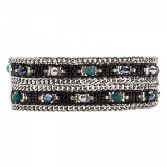 Bracelet Hipanema choker Amalia black - Bijoux de la marque Hipanema