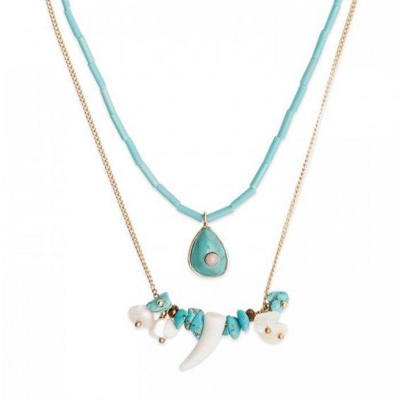 Collier Hipanema tilos turquoise - Bijoux et colliers marque Hipanema