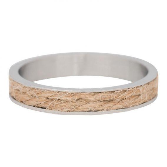 Anneau iXXXi corde brune - Anneau couvrant de marque de bijoux iXXXi