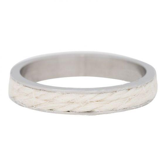 Anneau iXXXi corde blanche - Anneau couvrant de marque de bijoux iXXXi