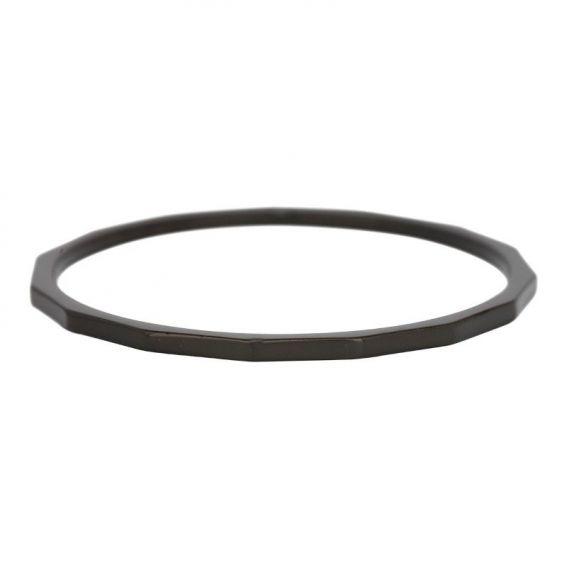 Anneau iXXXi angular 1mm iXXXi noir - Bijoux de marque iXXXi