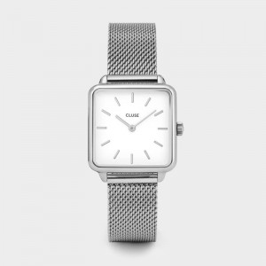 Cluse - Watch CLUSE - The Tetragon mesh silver / white