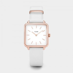 Cluse - Watch CLUSE - The Tetragon rose gold white / white