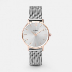 Cluse - Watch CLUSE - Midnight Mesh rose gold / silver