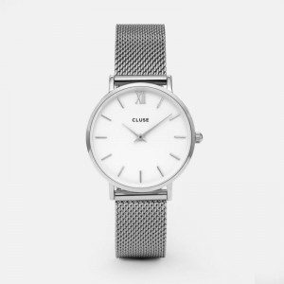 Montre de marque CLUSE - La minuit Mesh silver/white - CL30009